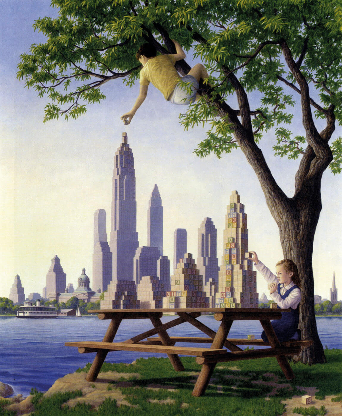 Rob Gonsalves. Tablet op Towers