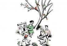 El canto de los pájaros. Ilustración: José Miguel de la Peña