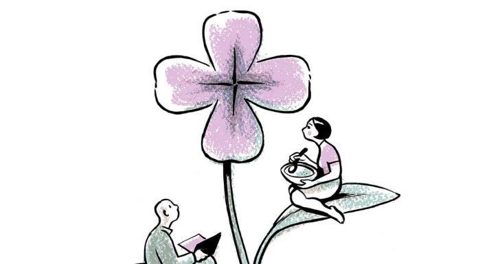 Las flores, el arroz y el agua dela educación