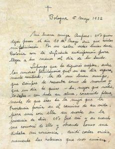 Fragmento de carta desde Bologna
