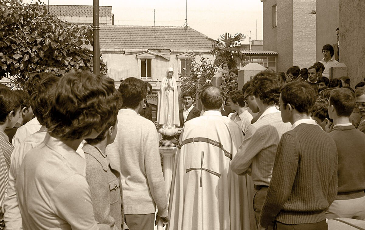 1973 Virgen de Fátima en el Hogar de Madrid