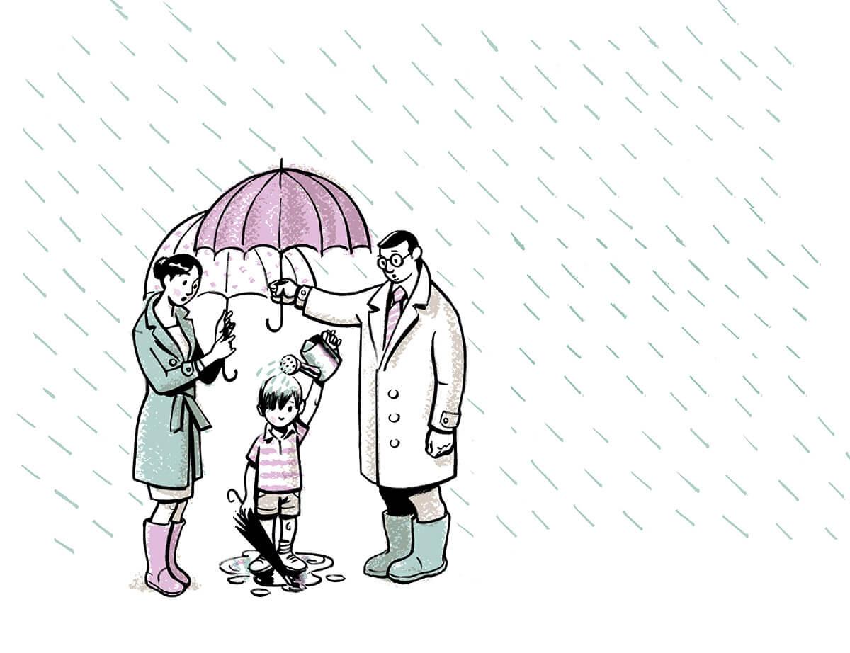 Afluenza. Ilustración: José Miguel de la Peña
