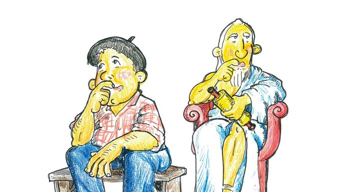 Sabio. Ilustración: Juan Francisco Miral