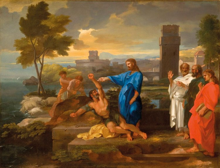 Sébastien Bourdon. El endemoniado de Gerasa (1653-57).