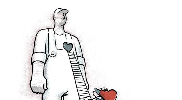 La novedad del P. Morales como educador. Ilustración: José Miguel de la Peña