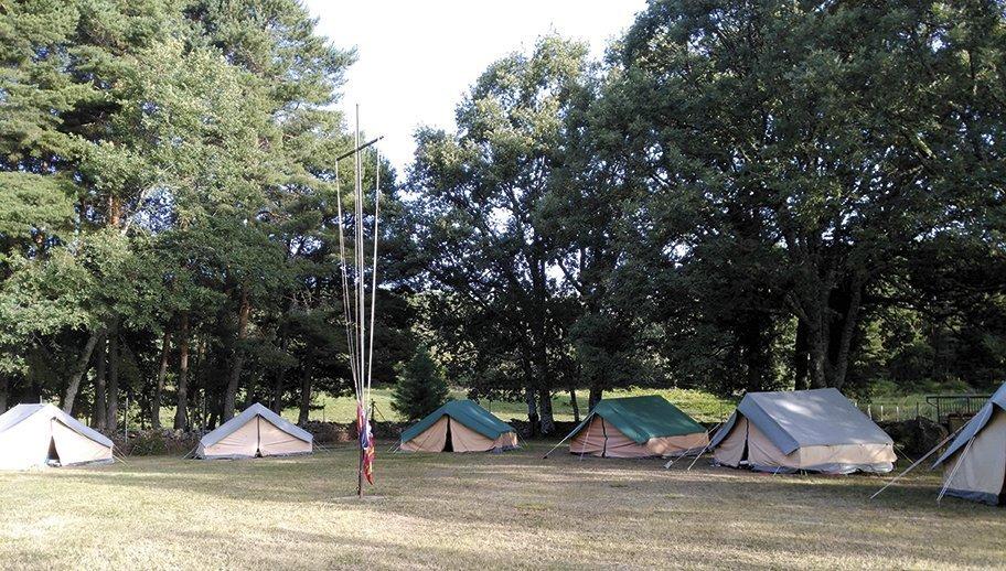 Campamento en Santiago de Aravalle