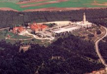 Vista aérea del cerro de los Ángeles