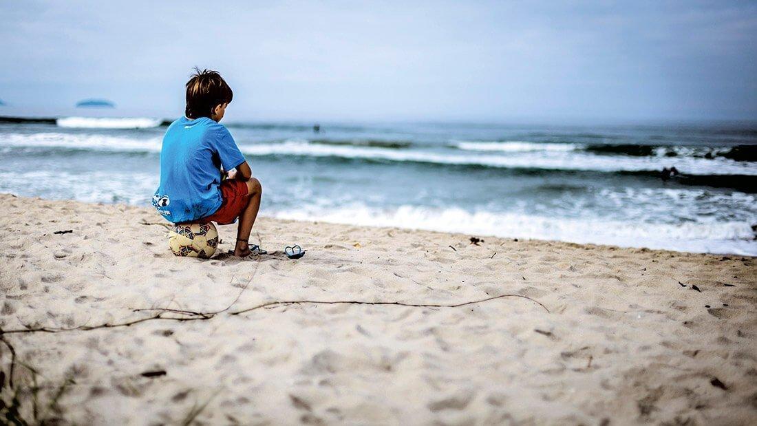 Coloquio con el hijo. Foto: Vanessa Bumbeers