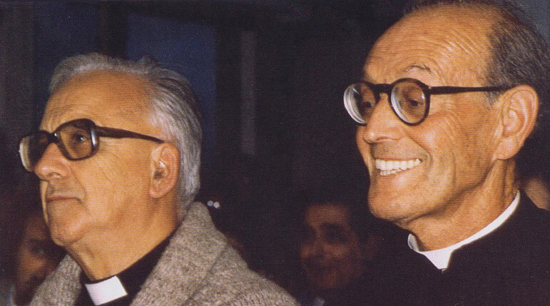 Mons. Hornedo y el P. Morales