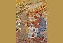 Mosaico del P. Marko Ivan Rupnik, capilla del convento de las Ursulinas en Ljubljana (Eslovenia)