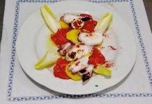 Ensalada de pulpo, patata y tomate