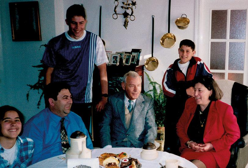Abelardo con la familia Vicente Rojas