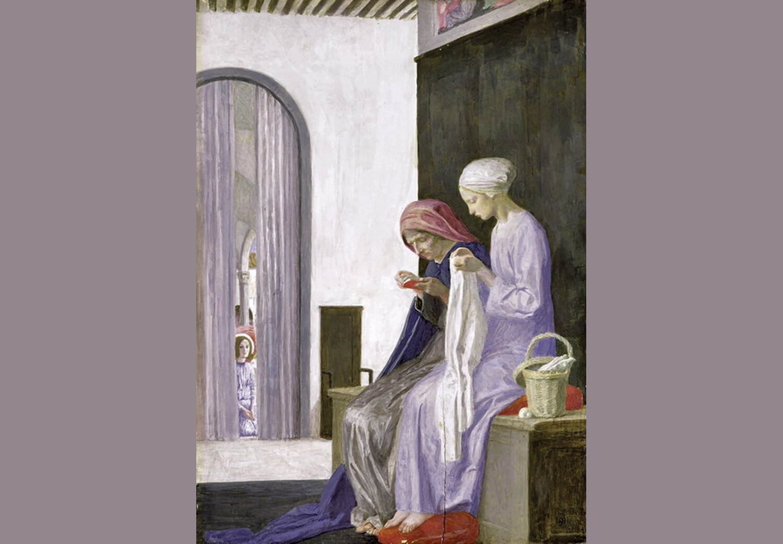 María en casa de Isabel. Robert Anning Bell (1917)