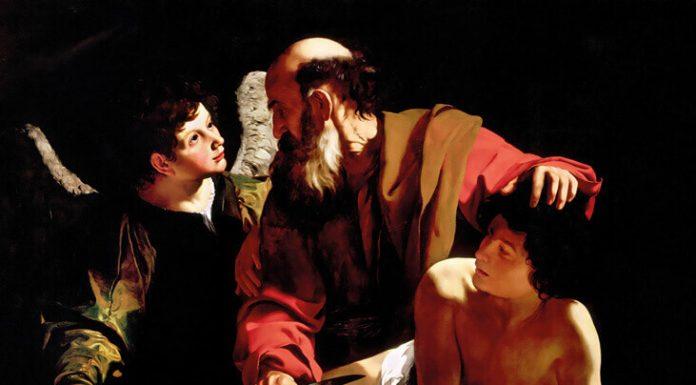 El sacrificio de Isaac, Caravaggio, alrededor de 1598, Princeton, colección privada Piasecka-Johnson
